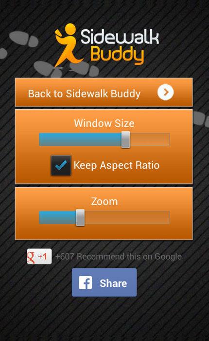 Sidewalk Buddy - Texting and Walking App For